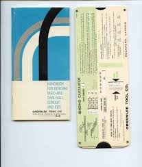 Greenlee Conduit Bending Chart Handbook For Bending Rigid And Thin Wall Conduit And Pipe