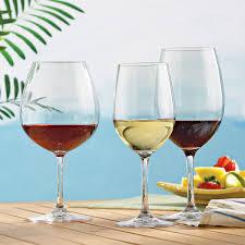indoor outdoor wine glasses party set set of 12