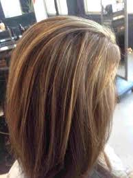 Medium Shoulder Length Dark Brown Hair With Caramel Highlights And