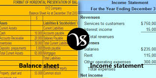 balance sheet vs income statement difference between balance sheet and income statement difference all