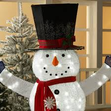 72 Light Up Snowman Holiday Time 72 Inch Light Up Led Fluffy Snowman With Top