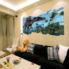 Jurassic Park 3D Dinosaur Children's Chamber of The House Wall Stickers  Stickers Manufacturers Can Removed Wholesale Waterproof-in Wall Stickers  from Home ...