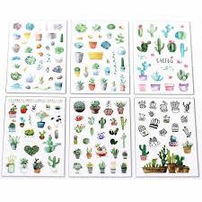 <b>6PCS</b>/ <b>Set</b> Mini <b>Cute Kawaii</b> Cartoon Plant Notepad Sticky Notes ...