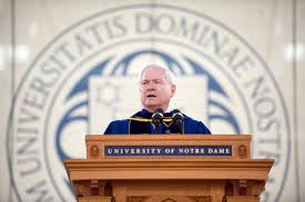 u s department of defense photo essay defense secretary robert m gates speaks during the university of notre dame commencement ceremony in