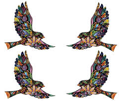 flying birds wall decals stickers for