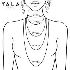 Necklace Length Chart Yala Jewellery Necklace Length Size Chart Yala Jewellery