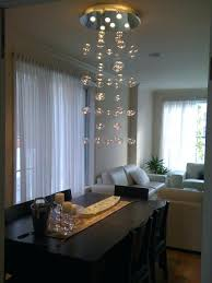 bubble glass chandelier by solaria contemporary dining room