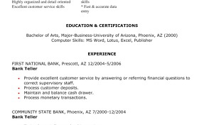 Objective For Bank Teller Resume With No Experience Entry Level