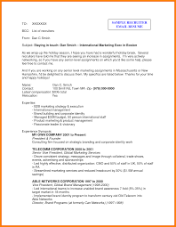Email To Recruiter With Resume Cover Letter Samples