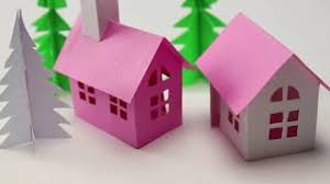 How To Make House With Chart Paper Small Paper House Making Easy And Cute