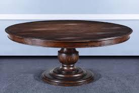 farmhouse 72 round pedestal dining table rustic pecan