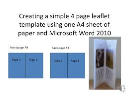 4 to a page template how to make simple 4 page leaflet in word 2010