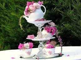 Topsy Turvy Wedding Centre piece- from Sweetpea and Ivy. Alice in  wonderland, mad  Tea Party CenterpiecesTea ...