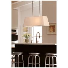 dayna shade pendants collection by sea gull lighting dayna large four light rectangle shade pendant
