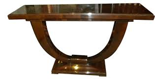furniture art deco style. Art Deco Console U Shaped Base In Wood Furniture Style