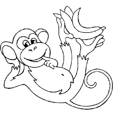 Coloring Pages Of Monkeys Coloring Page Of A Monkey Coloring Pages