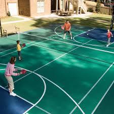 Residential Tennis Sportprosusa Image On Appealing Backyard Tennis Backyard Tennis Court Cost