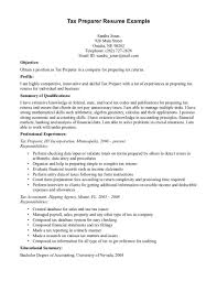 Tax Preparer Resume Samples Sample Resume Tax Preparer Tax Preparer Resume Example Tax