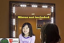 makeup vanity with led lights. make up mirror led light for vanity with dimmer and ul power supply eco series makeup vanity led lights h
