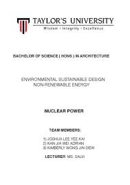 essay nuclear power by adrian kan issuu bachelor of science hons in architecture environmental sustainable design non renewable energy nuclear power