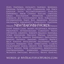My Beautiful Words New Year Wish Words