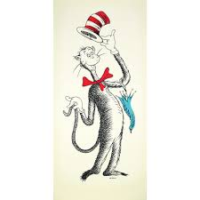 ted s cat the cat in the hat 50th anniversary print