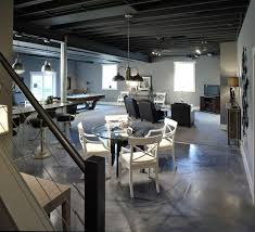 exposed ceiling lighting basement industrial black. Image Of: Exposed Basement Ceiling Ideas Grey Lighting Industrial Black