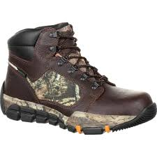 rocky full grain leather outdoor hiking boot large
