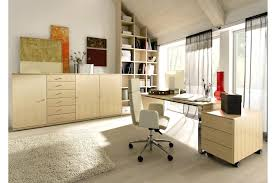 guest room home office. white home office design interior with desk and swivelchair also soft carpet drawers on sideboard alsoideas guest room