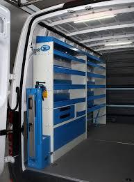van upfit for plumbers shelving in a syncro van upfit for a plumber
