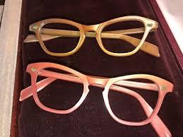 vintage eyeglasses frames and display case 1953 5