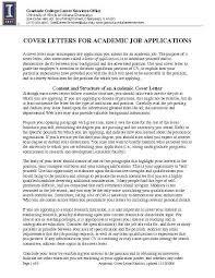 Cover Letter To University Cover Letter Academic Position Cover Letter For Academic Job
