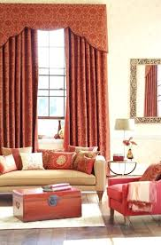 rust colored curtain red damask curtains complement salmon pink in in the furniture a gilded mirror rust colored curtain