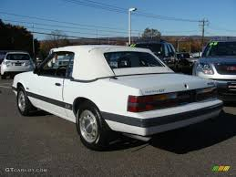 Oxford White 1985 Ford Mustang GT Convertible Exterior Photo ...