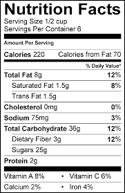 cereal nutrition facts peanut er cookie cookie crisp nutrition facts