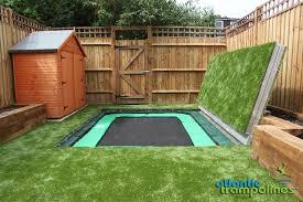 in ground trampoline. Ground Level Trampoline Installed By Sunken Trampolines In M