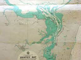 Noaa Charts Australia Hervey Bay Fraser Island Vintage Nautical Chart At Coastal