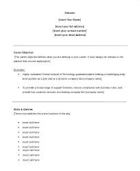Sample Resume Career Objective Customer Service Objectives For