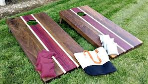 Wooden Corn Hole Game Regulation Corn Hole Set Walnut Hardenbrook Hardwoods 74
