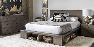 modern bedroom with dylan queen platform bed