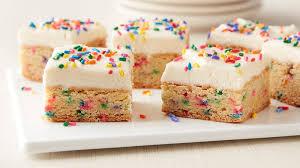 Cake Batter Cookie Bars Recipe Bettycrockercom