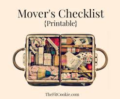 Printable Moving Checklist Packing Tips The Fit Cookie