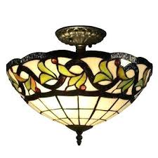 dale semi lights lighting the home depot and luxury flush mount stained glass ceiling light 2