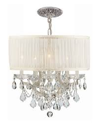 quick look swarovski crystorama bwood 6 light elements crystal chrome drum shade chandelier