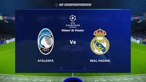 Atalanta vs Real Madrid • UEFA Champions League • Ottavi di Finale • PES  2021 (Lv. Legends) - YouTube