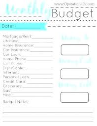 Easy Monthly Budget Template Simple Monthly Budget Template Excel Household