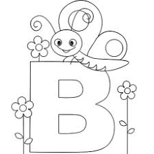 alphabet coloring page for pre