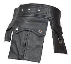 leather kilt with pockets leder kilttasche leder gladiator kilt rock leather kilt gothik