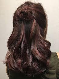 Rose Gold Highlight On Dark Brown