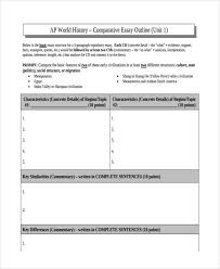 examples of essay outlines comparative history essay outline comparative essay example
